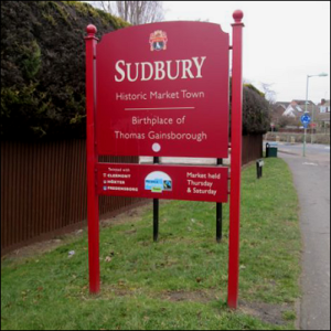 Sudbury Entry Sign